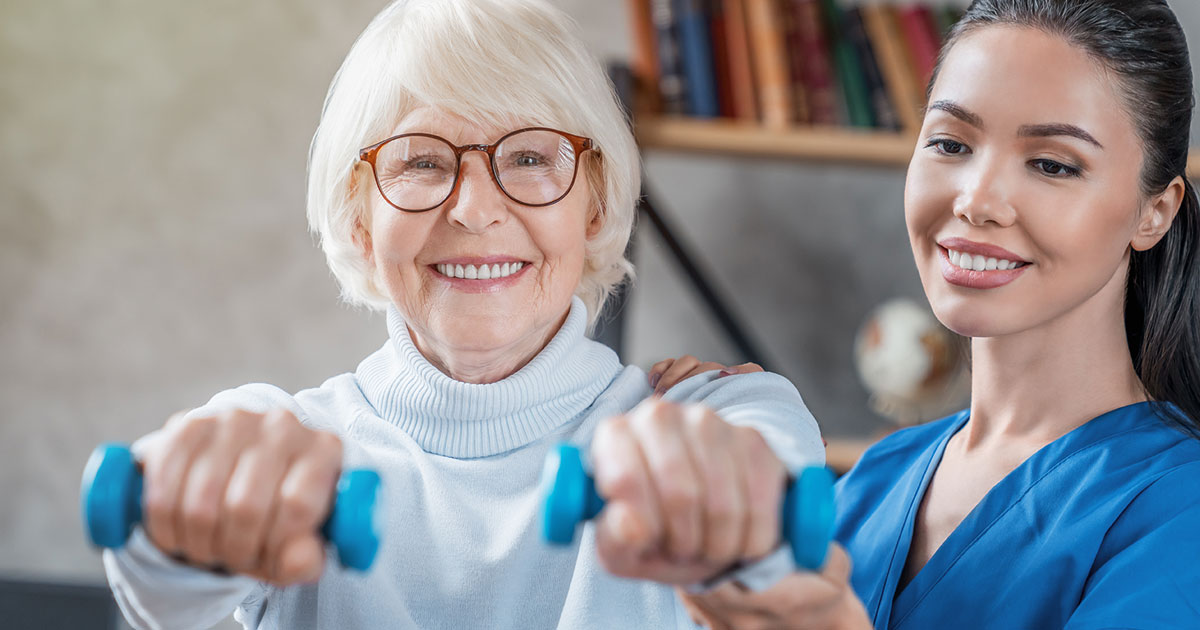 Physical Therapy Elderly Woman